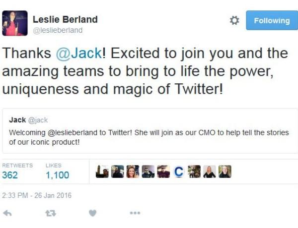 Leslie Twitter tweet