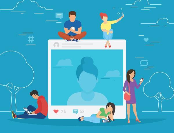 Social media illustration