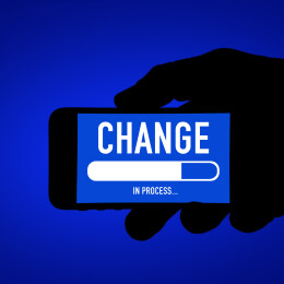 Change in process - mobile phone message