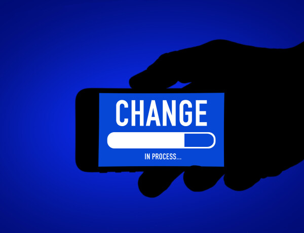 Change in process – mobile phone message